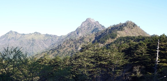 石鎚山を土小屋から