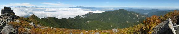 金峰山頂から北西側の眺望
