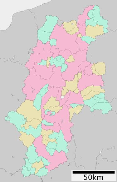 長野県行政区画図