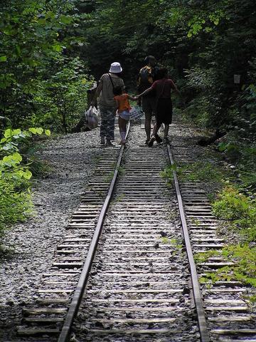 木曽森林鉄道廃線跡