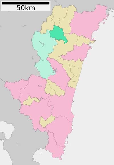 諸塚村位置図