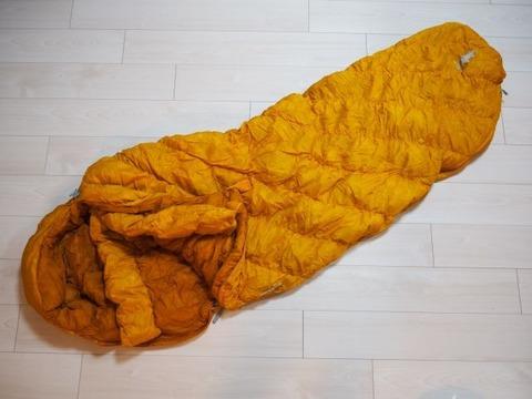 黄色い寝袋