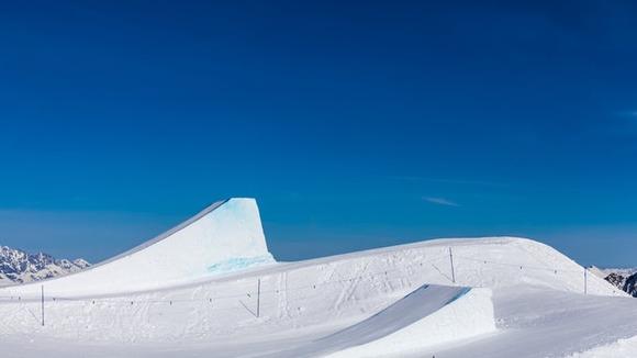 スノーボードのキッカー