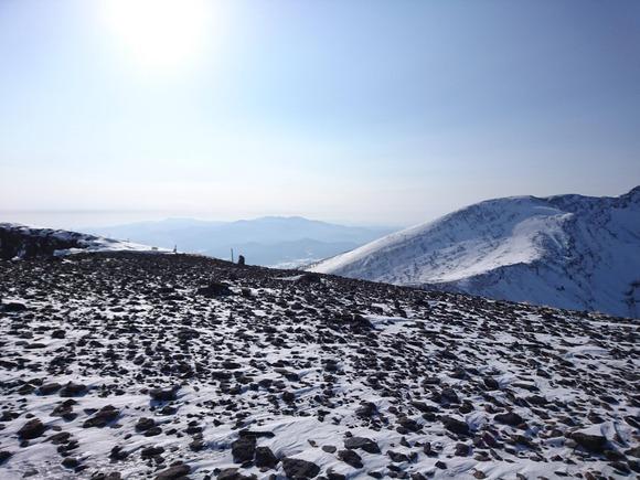 硫黄岳稜線
