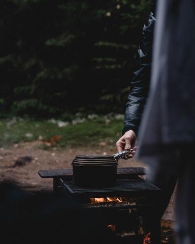 キャンプ中