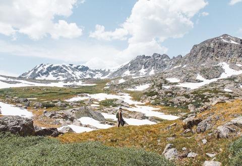 残雪期の登山