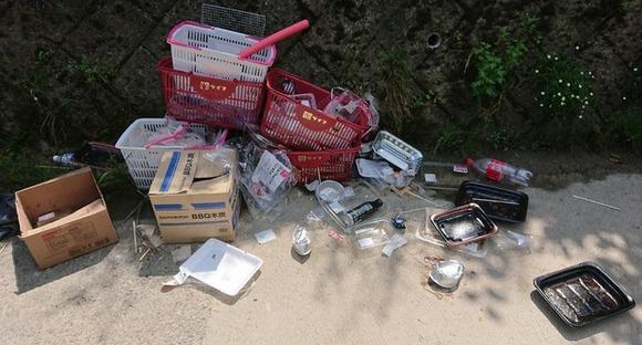 【奈良】河原BBQ禁止も…ゴミ放置やまず 条例に罰則なし
