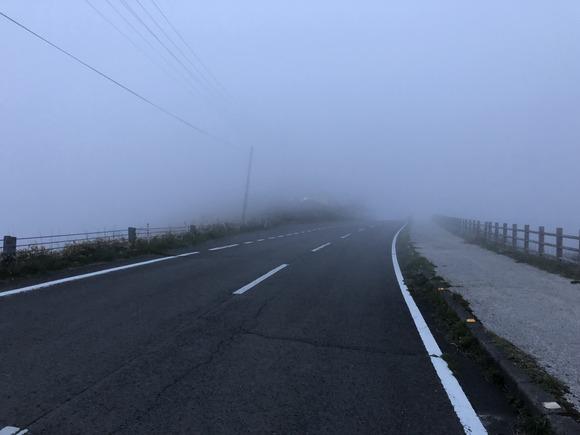 視界の悪い道路
