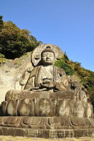 千葉県鋸南町、日本寺大仏
