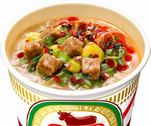 【日清】パクチー&辣油の「カップヌードル 蘭州牛肉麺」キタ━━━━(゚∀゚)━━━━!!
