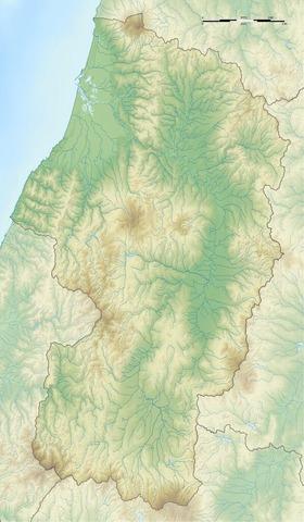 山形県の地形図