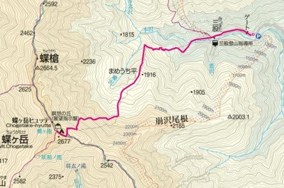 蝶ヶ岳ルート