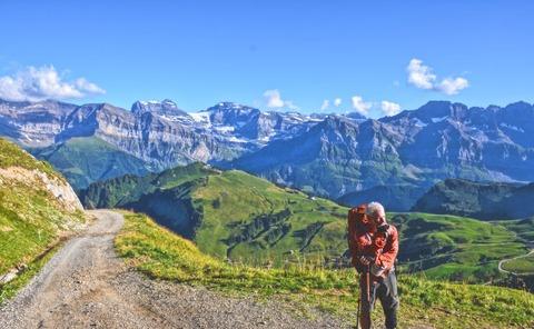 登山者と絶景