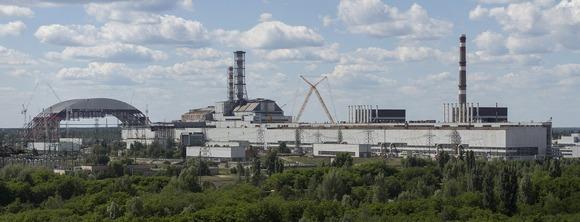 旧チェルノブイリ発電所のパノラマビュー