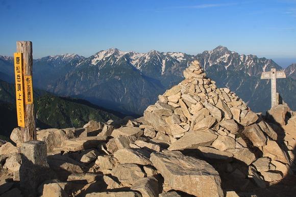 唐松岳の山頂
