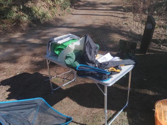 テント設置前