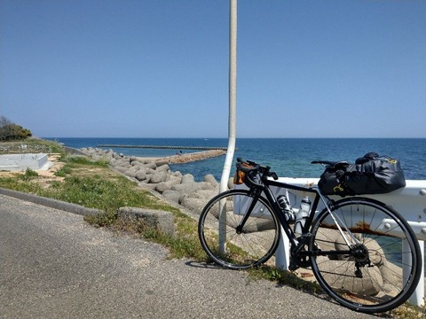 自転車と青空
