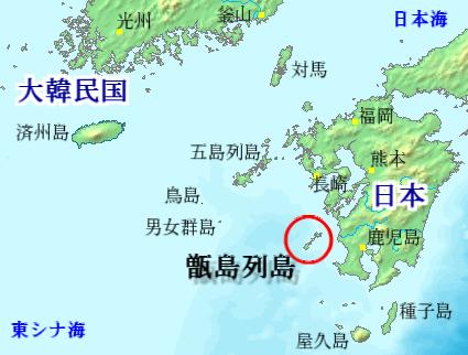 甑島列島の位置