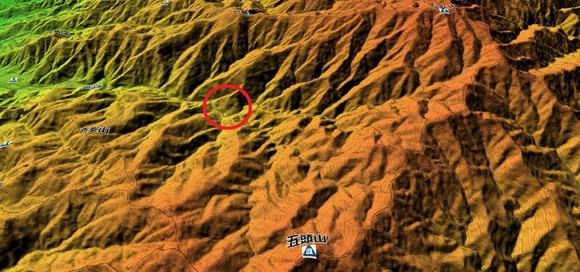 五頭山3Dマップ