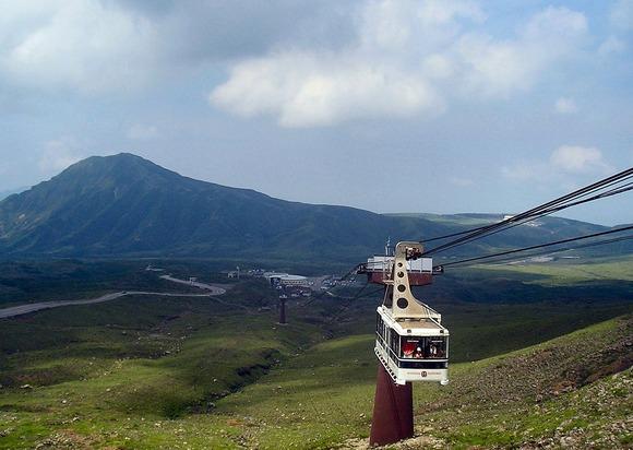 阿蘇山ロープウェーのゴンドラ