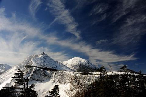 厳冬期の天狗岳