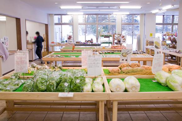 地元の野菜の直売