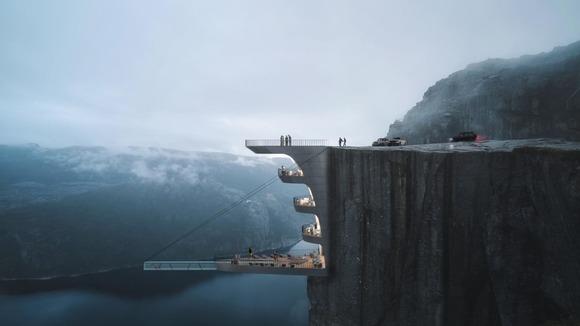 崖のホテル