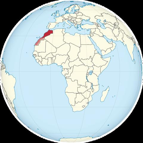 モロッコの位置