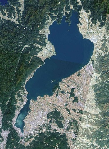 琵琶湖の俯瞰図