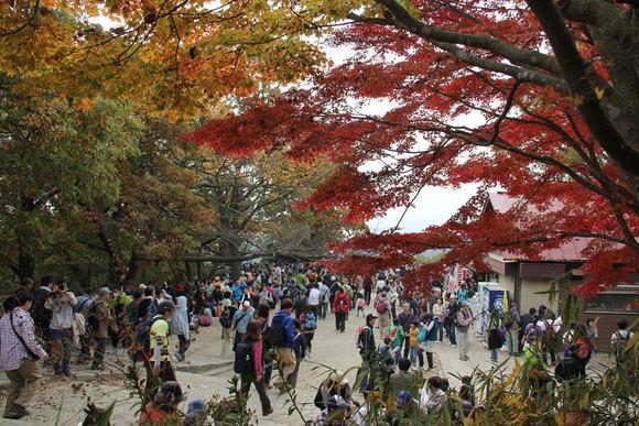 賑わう山頂の広場  (1)