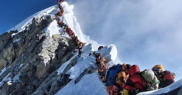 エベレストの渋滞
