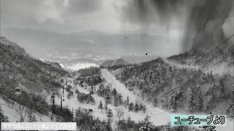 草津白根山の噴火