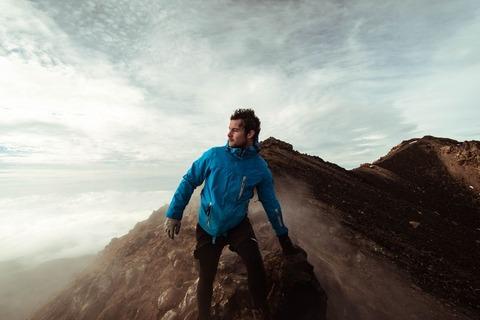 稜線の登山者