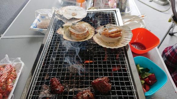肉とホタテ