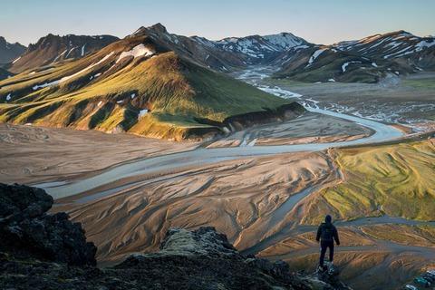 アイスランドの登山者