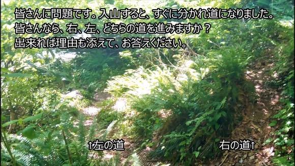 登山道の分かれ道