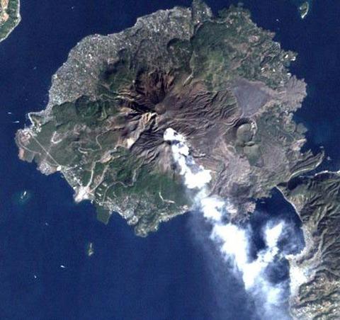 衛星から見た桜島