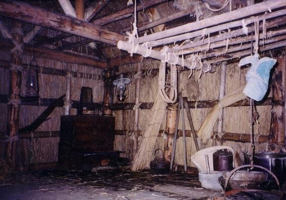 当時の開拓村の家(再現)