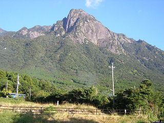 南西から見たモッチョム岳