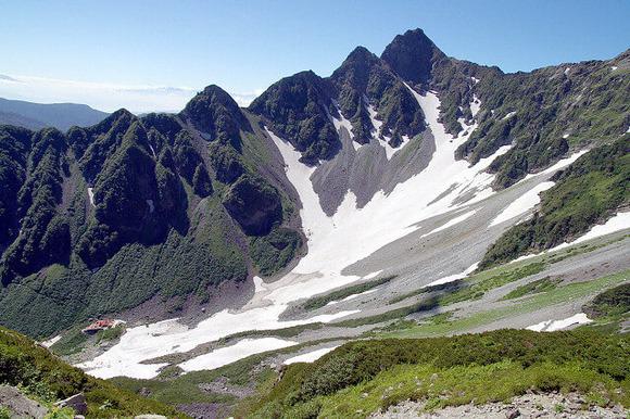 北穂高岳側から見た涸沢カール (1)