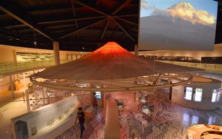 山梨県立富士山世界遺産センターの展示室