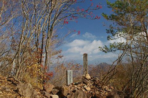 深田久弥終焉の地の茅ヶ岳。