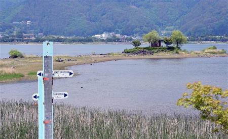 河口湖の島