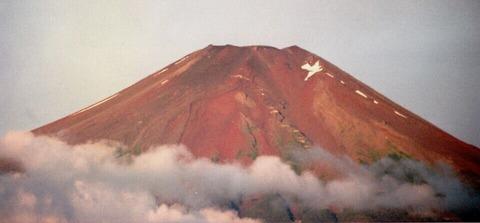 赤富士 山中湖村より
