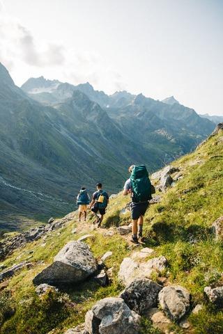 3人の登山者