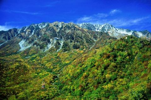 黒部平から望む立山