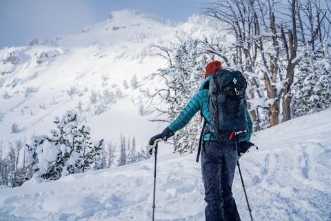 雪山の登山者
