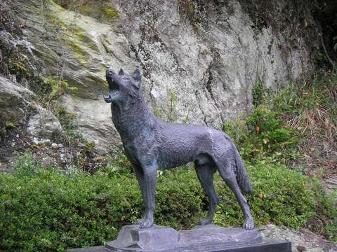 Honshu-wolf_statue (1)