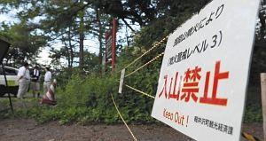 入山禁止看板