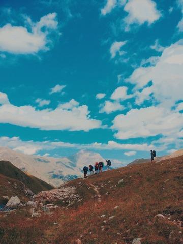 快晴の登山